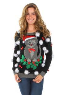 womens-ugly-cat-christmas-sweater-w-bells-tipsy-elves-2