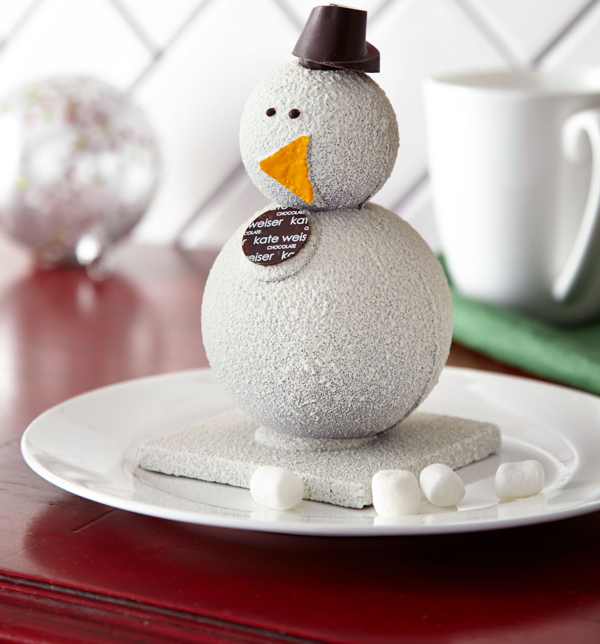 Carl the snowman turns into hot chocolate