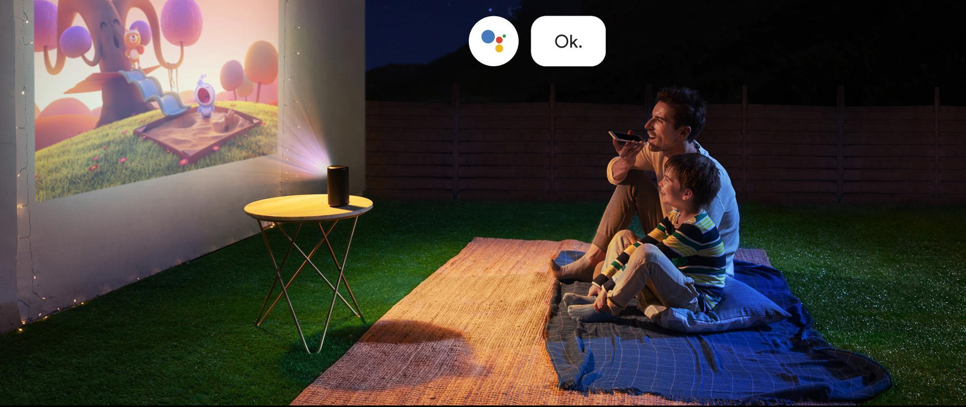 Watch movies anywhere with the Nebula Capsule by Anker. The Smart Wi-Fi Mini Projector